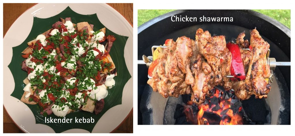 Chicken shawarma on Big Green Egg cookery course