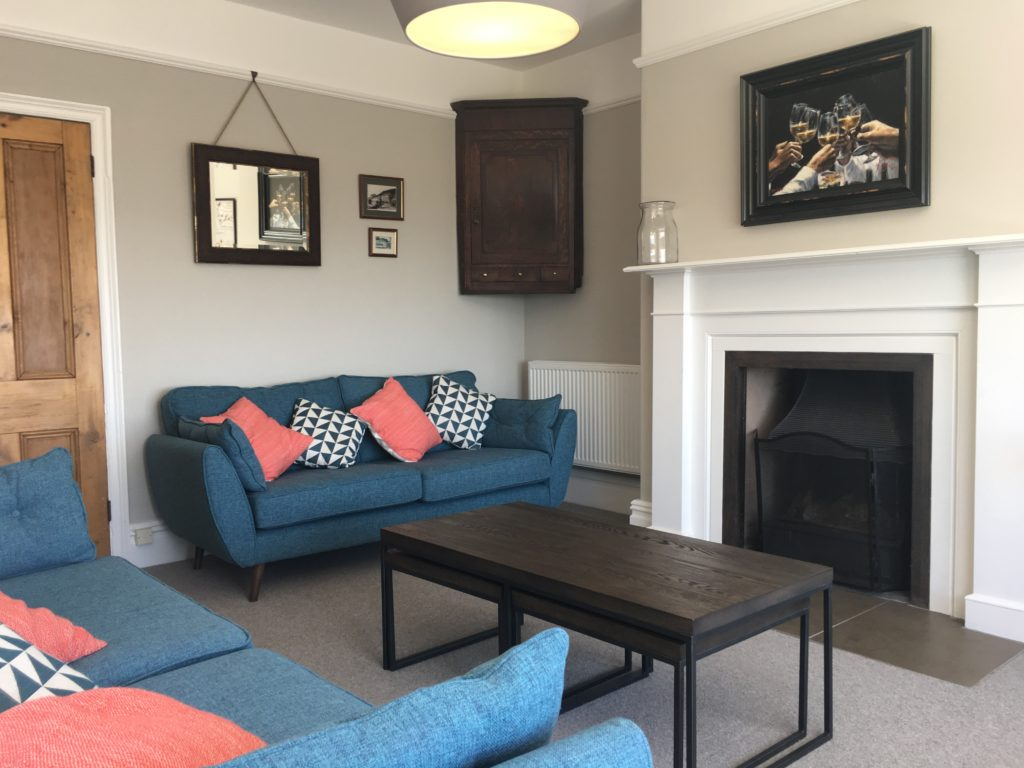 Lounge at Aberdovey holiday house rental - Hafod Arfor