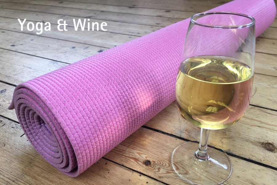 yoga and wine at worth brothers derby