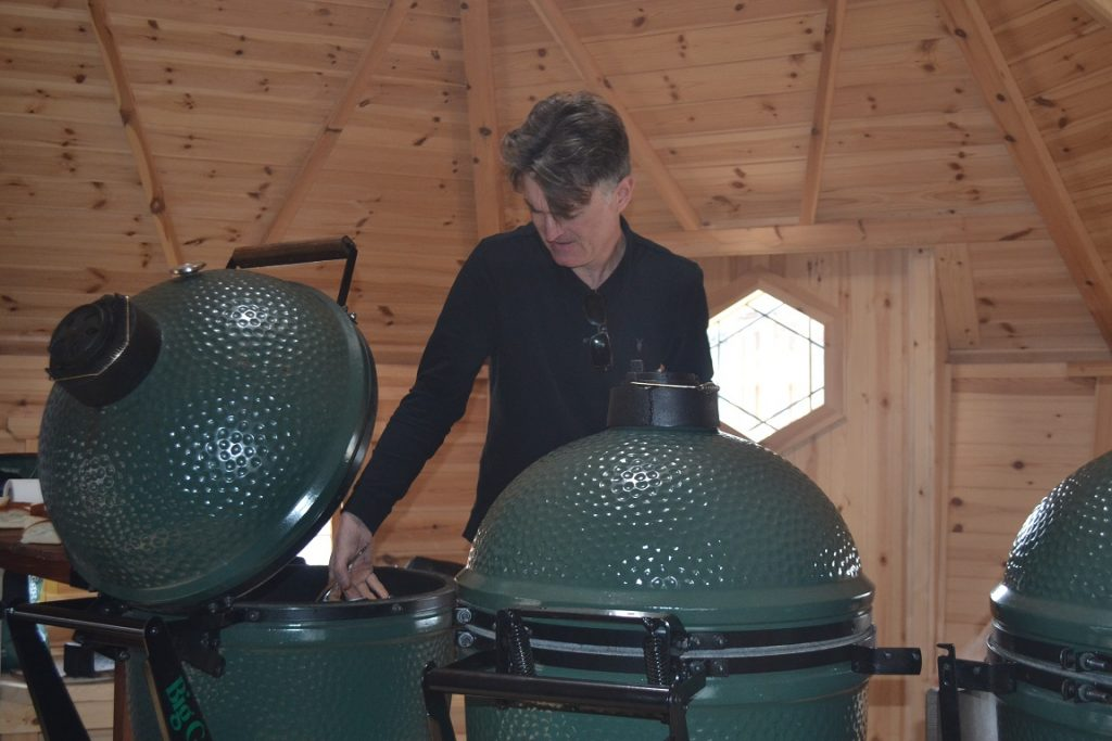 Big Green Egg Cooking Class Inside Cabin