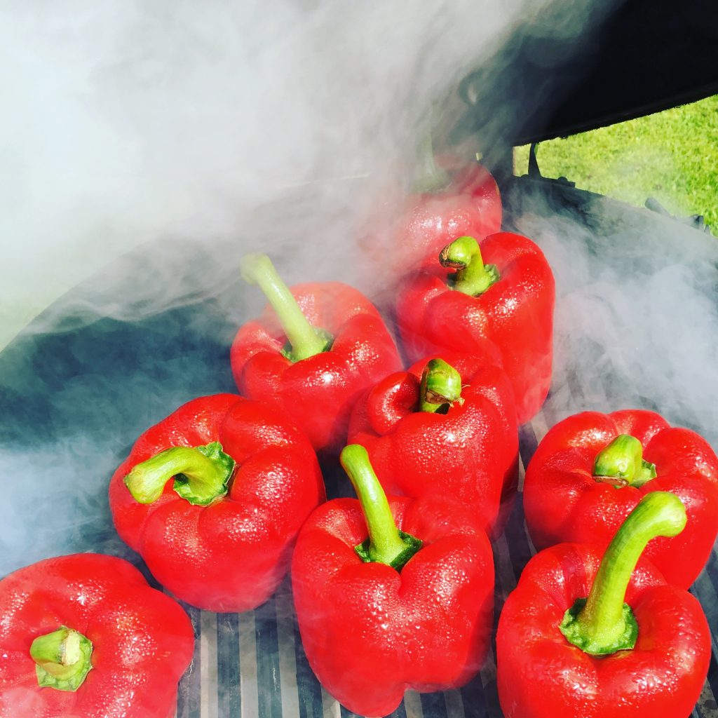 Big Green Egg Cooking Classes pics Smoked Peppers